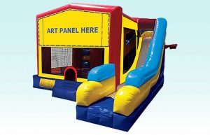 5 in 1 Module Combo Jumper, Obstacle Course and Slide