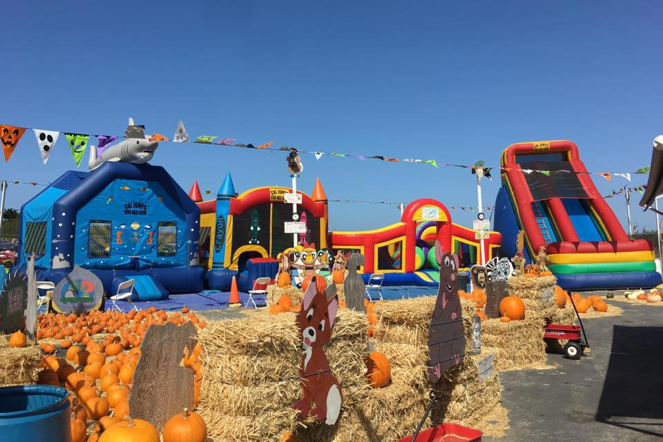 Cal Jumps inflatable bounce house, slides and game rentals at pumpkin patch